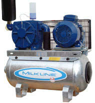 Oil-lubricated belted vacuum units with square pump