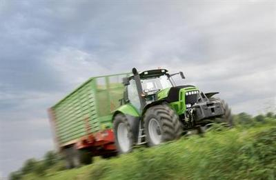 The farm tractor Deutz-Fahr TTV 630 displays 224 hp