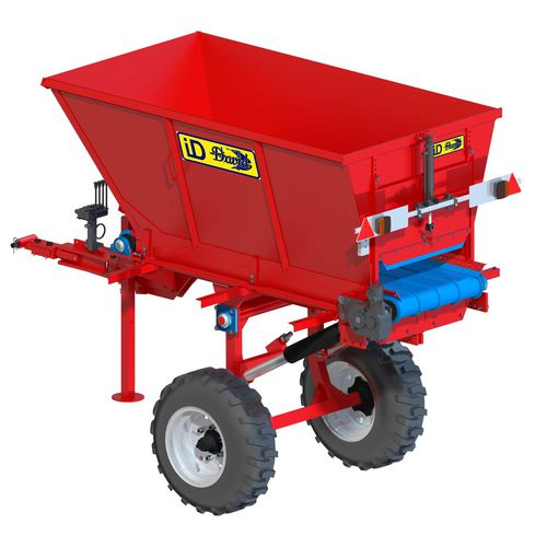 Trailed fertilizer spreader solid for vineyards DEF Series